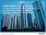 ES Corporate presentation - ASSA ABLOY Entrance Systems