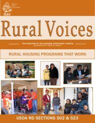 USDA RD SECTIONS 502 & 523 - Housing Assistance Council