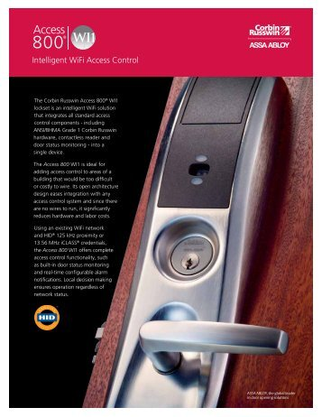 Intelligent Wifi Access Control - ASSA ABLOY Door Security ...