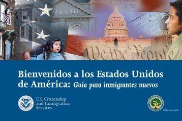 Bienvenidos a los Estados Unidos de America: Guia Para ...
