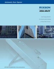 Automatic Door Opener - ASSA ABLOY Door Security Solutions ...