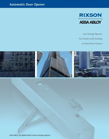 Automatic Door Opener - ASSA ABLOY Door Security Solutions ...