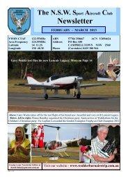 February - March - NSW Sport Aircraft Club