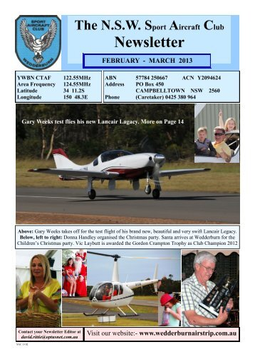 February - March - NSW Sport Aircraft Club