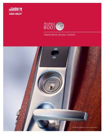 Stand-alone Access Control - ASSA ABLOY Door Security Solutions ...
