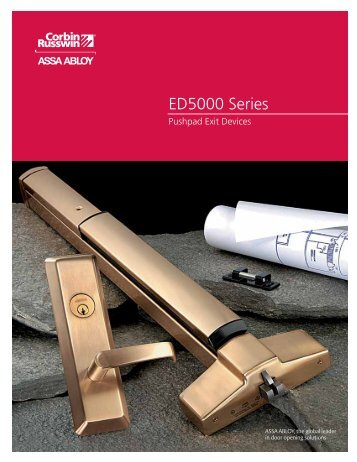 ED5000 Series - ASSA ABLOY Door Security Solutions :: Extranet