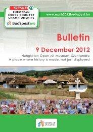 Budapest 2012 - Bulletin 1 - European Athletic Association
