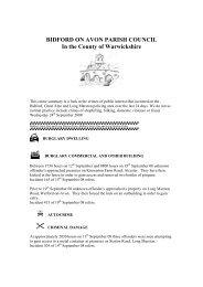 Wednesday 24 September 2008 - Bidford-on-Avon Parish Council