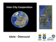 Inter-city cooperation, Gävle and Östersund - European Mobility Week