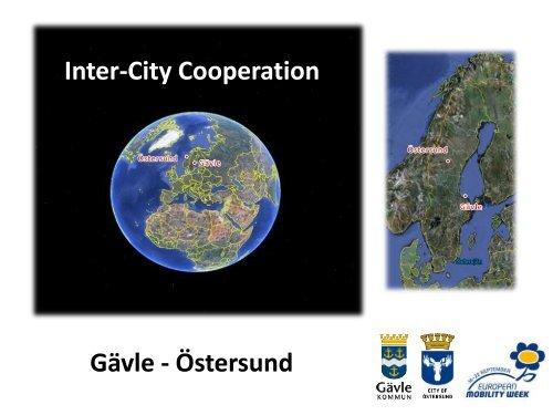 Inter-city cooperation, Gävle and Östersund - European Mobility Week