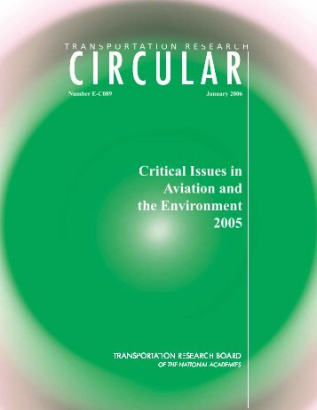Critical Issues in Aviation and the Environment (2006) - Oakland ...