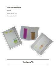 Farbstoffe - Unterrichtsmaterialien Chemie