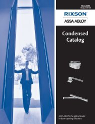 Condensed Catalog - ASSA ABLOY Door Security Solutions :: Extranet