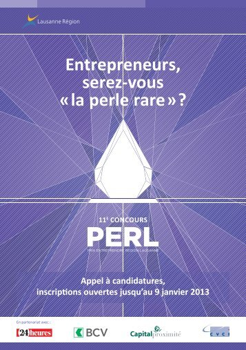 PERL, flyer - Lausanne Région