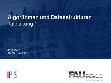 Algorithmen und Datenstrukturen Tafelübung 1