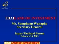 Standard Presentation - The Board of Investment of Thailand
