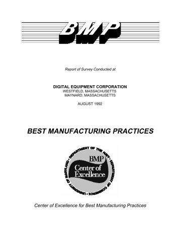 Digital Equipment Corporation - Best Manufacturing Practices