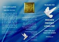 Flyer als PDF - Ahmadiyya Muslim Jamaat Schweiz