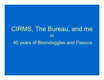 Randall S. Caswell Award for Distinguished Achievement ... - CIRMS