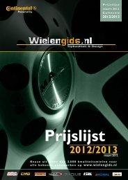 Prijslijst wielengids 2012-2013 - Continental