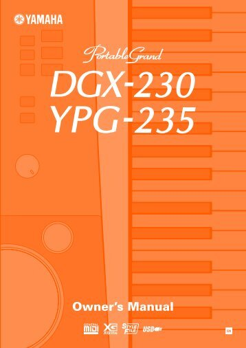 DGX-230/YPG-235 Owner's Manual - zZounds.com