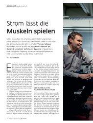 Strom lässt die Muskeln spielen - Max-Planck-Gesellschaft