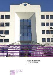Zwischenbericht 1. – 3. Quartal 2008 - Fair Value REIT-AG