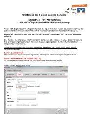 Umstellung der T-Online-Banking-Software (VR-NetKey - PIN/TAN ...