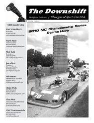 April 2010 - MC Champ Series Start - Chicagoland Sports Car Club
