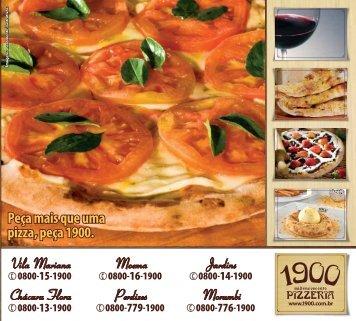 Peça mais que uma pizza, peça 1900. Vila Mariana ... - 1900 Pizzeria