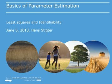 Basics of Parameter Estimation - NCSB