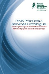 RIMS Products & Services Catalogue