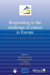 Responding to the challenge of cancer in Europe - European Public ...