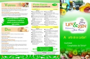 """Culinária funcional e leve, com toque de """"chef"""". - Linha Lev&Zen ..."""