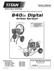 840ix - Wagner USA [Paint Sprayers, HVLP Sprayers, Powered ...