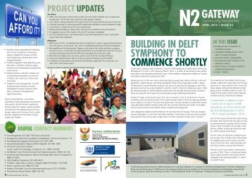 April 2013 N2 Gateway community newsletter - Housing ...