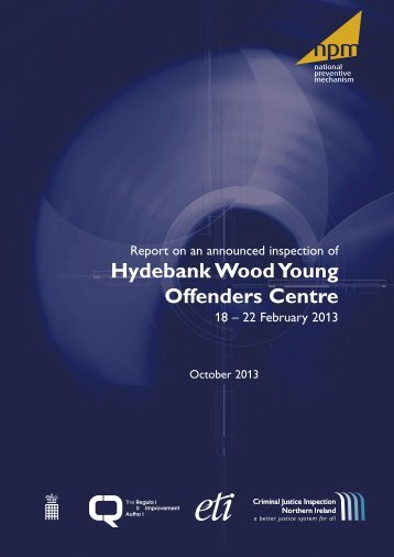 CJ Inspection report for Hydebank Young offenders centre