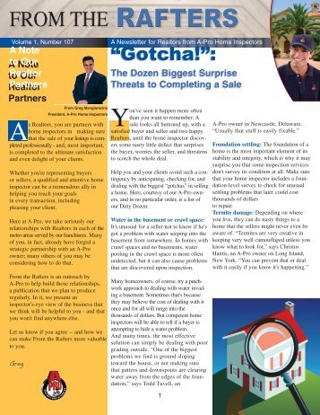 """Gotcha!"": ""Gotcha!"": - A-Pro Home Inspection Service"