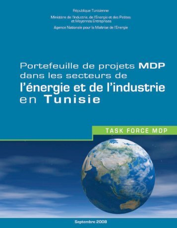 Tunisie - portefeuille de projets MDP - RIAED