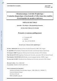 Hémodynamique Artérielle Périphérique: Evaluation diagnostique et ...