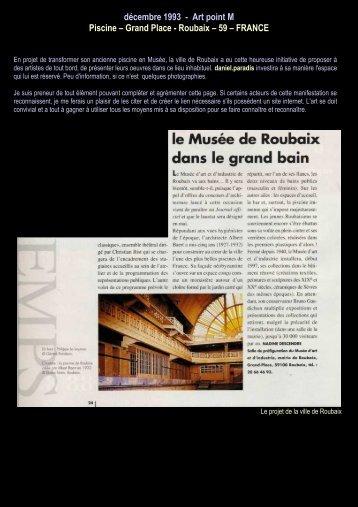 décembre 1993 - Art point M Piscine – Grand Place ... - Daniel paradis