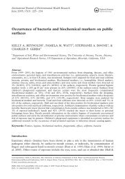 Occurrence of bacteria and biochemical markers on ... - procrastin