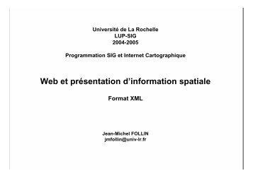 XML - Université de La Rochelle