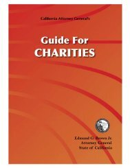 Guide for Charities - Attorney General - State of California