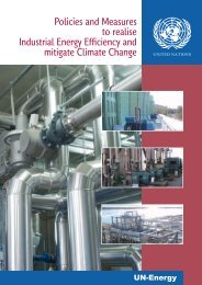 Policies and Measures to realise Industrial Energy Efficiency ... - Unido