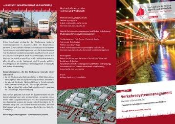 Verkehrssystemmanagement - Studieren in Deutschland [studieren ...