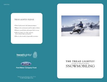 Tread Lightly! Guide to Responsible Snowmobiling