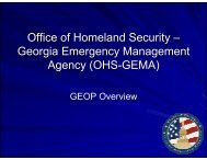 Office of Homeland Security – Georgia Emergency Management ...