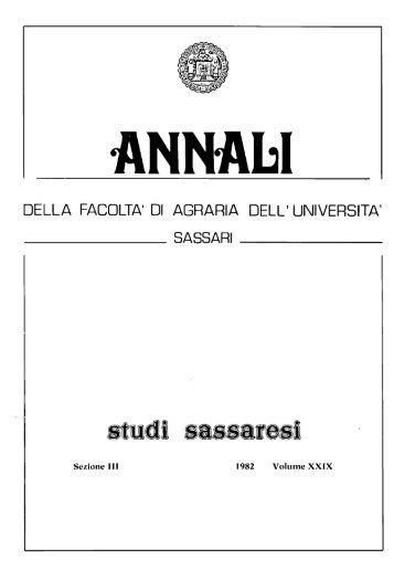 Annabi DELLA FACOLTA' DI AGRARIA DELL' UNIVERSITA'