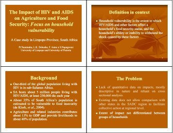 The Impact of HIV and AIDS The Impact of HIV and AIDS on ...